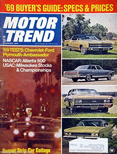 '69 Buyer's Guide: Specs & Prices - November, 1968