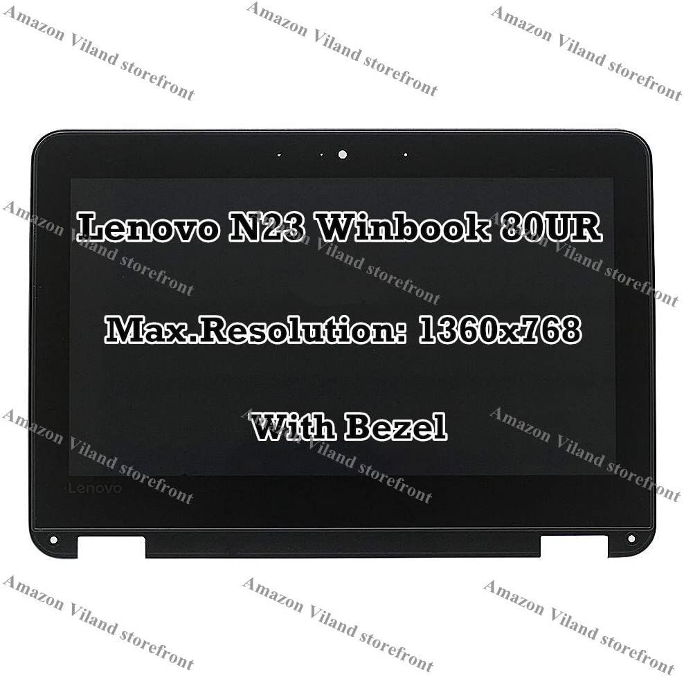 "11.6"" LCD LED 1366x768 HD Display Touch Screen Assembly with Bezel for Lenovo WinBook N23 80UR"