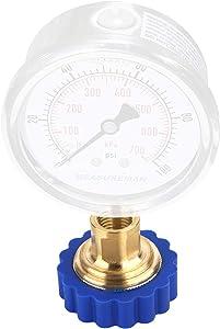 MEASUREMAN Water Pressure Test Gauge Water Faucet Adaptor, Lead-Free Brass Adapter, Garden Hose Connector, Adapter, Garden Hose Fitting