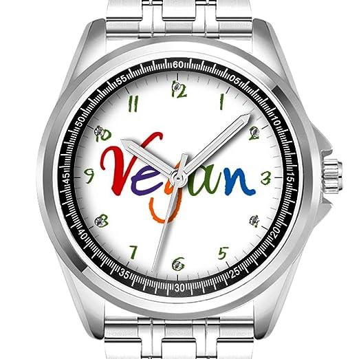 Reloj de Pulsera Personalizado para Hombre, a la Moda, Resistente al Agua, Diamante, 345, Colorido Vegano: Amazon.es: Relojes