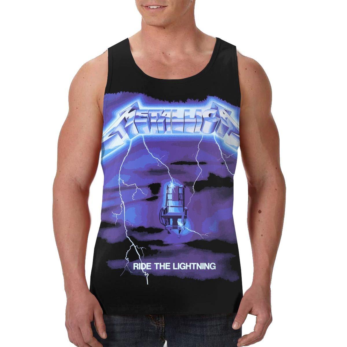Martina Houston Metallica Mens Cool Breathable Tank Top Shirt