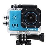 Action Cam, icefox FHD Unterwasser Action Kamera, 14MP, 1080P, Wasserdichte HD-Kamera mit 170°, 900mAh Batterie und Zubehör-Kitt für zum Tauchen, zumFahrrad fahren, zum Motorrad fahren und zum Schwimmen (Blau)