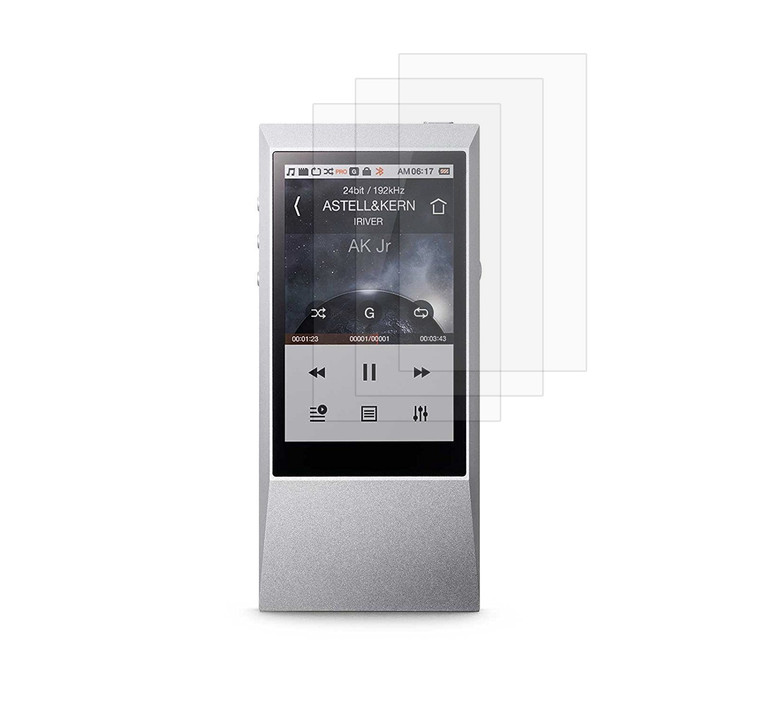 Astell & Kern AK Jr Audio Player Screen Protector, TopACE 3-Pack Ultra-Clear Premium Film for Astell & Kern AK Jr Audio Player (3-Pack)