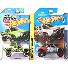 Hot Wheels Sandblaster (Ford SVT Raptor Pickup Truck) in Green and Grey Silver K&N SET OF 2