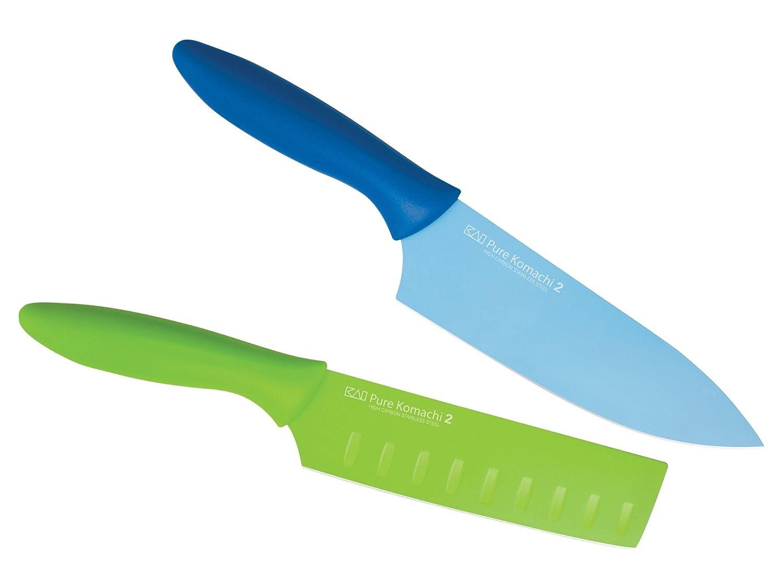 pure komachi 2 nakiri couteau de chef knife set of knives. Black Bedroom Furniture Sets. Home Design Ideas