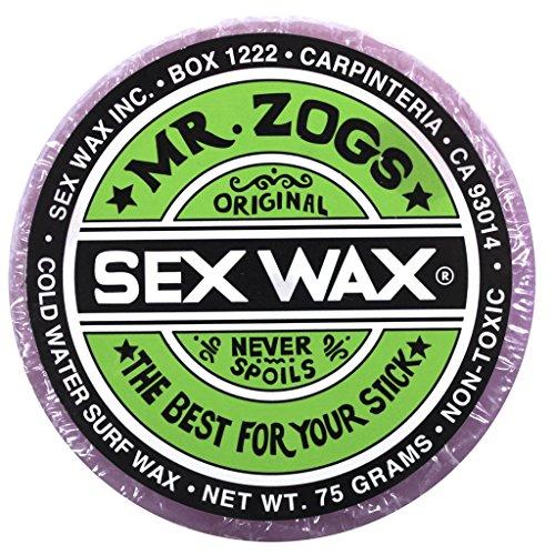 Mr. Zogs Original Sexwax - Cold Water Temperature Grape Scented (Light Purple - Cold Surfing Water