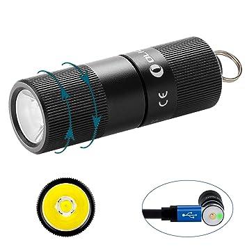 Olight Llavero Linternas i3s CU EOS latón (Limitado versión) MAX 180 lúmenes pequeño EDC Llavero Linterna Linterna con Cree XP-L LED, estándar AAA ...