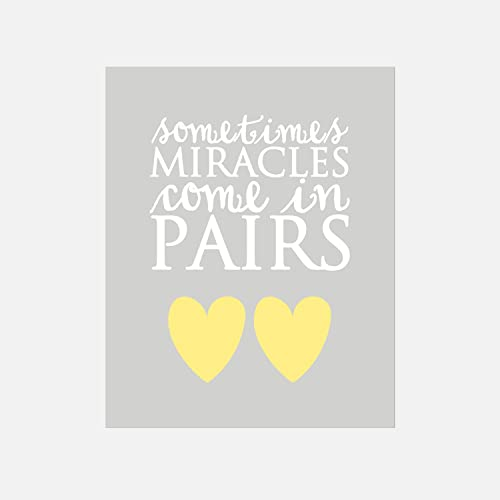 Amazon.com: Sometimes Miracles Come In Pairs Twin Quote, Twin