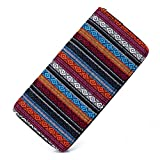 Money coming shop Woven Boho Long Women Wallet Aztec Female Purse Ladies Tribal Card Holder Girls With Cupreous Zipper(Weven Rhombus)