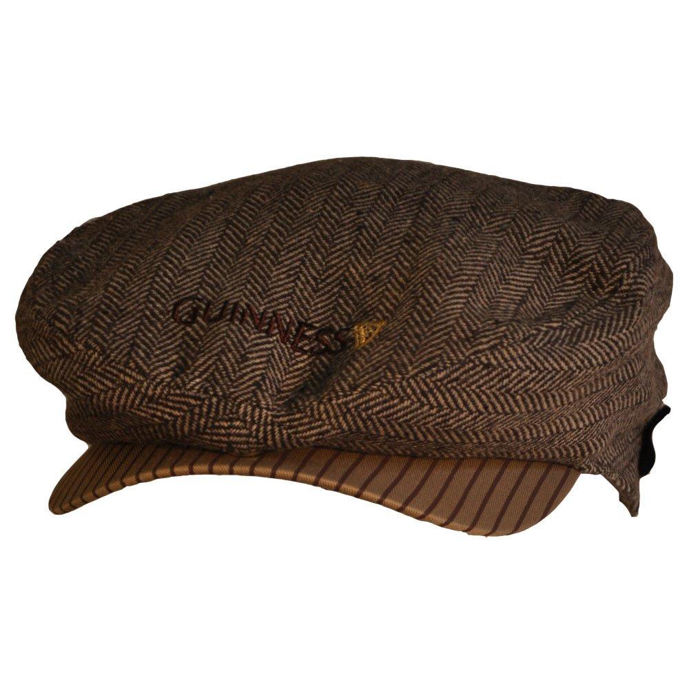 Guinness Brown Tweed Flat Cap Medium