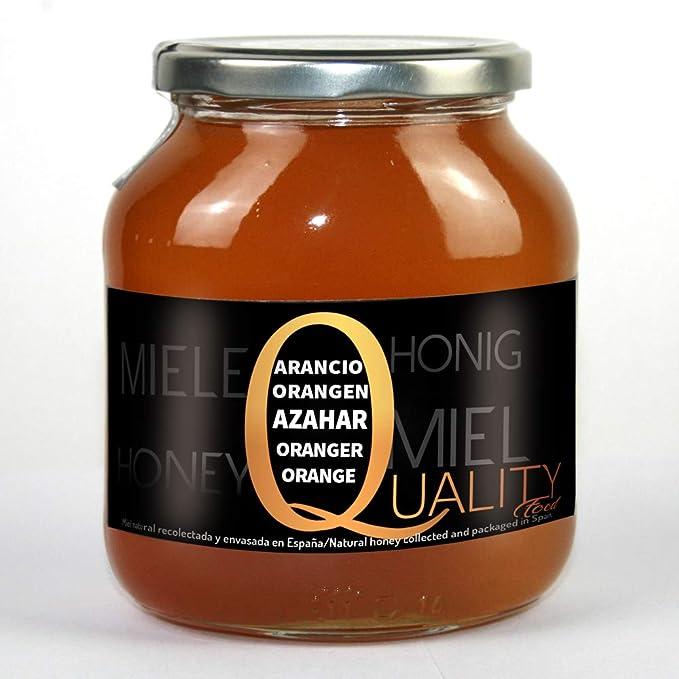 Miel pura de abeja 100%. Miel cruda de Azahar. 1 Kg. Producida en España. Sin pasteurizar ni calentar. Artesana de alta calidad. Tarro de cristal. Gran variedad de exquisitos sabores.: Amazon.es: Alimentación