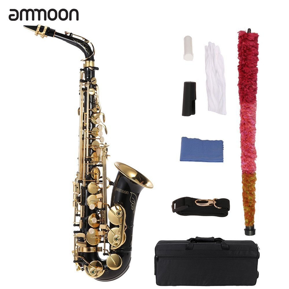 ammoon bE Alto Saxphone Brass Lacquered Gold E Flat Sax - Gold