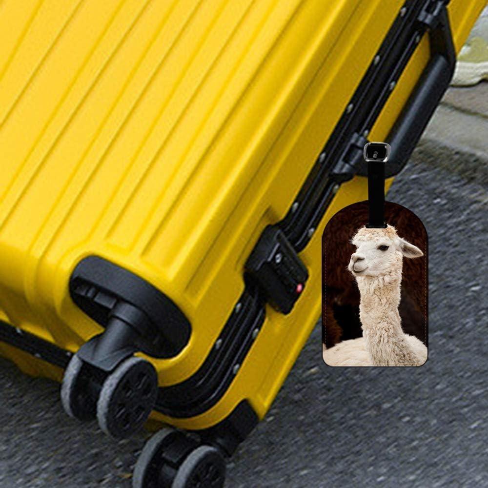 Saobao Travel Luggage Tag Colorful Star PU Leather Baggage Suitcase Travel ID Bag Tag 1Pcs