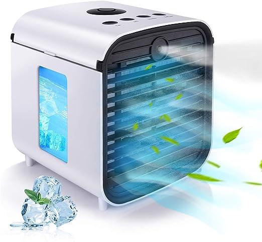 Mini dispositivo di raffreddamento portatile per condizionatore daria con USB Huasida ufficio, per casa bianco 3 in 1 per scrivania