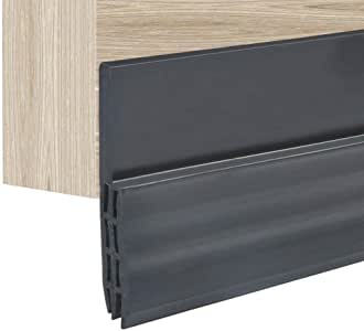 Yosoo Autoadhesivo para Desmontar Puerta Tira de Goma de Puerta 100cm Burlete para Hueco de Ventana o Puerta (Negro)