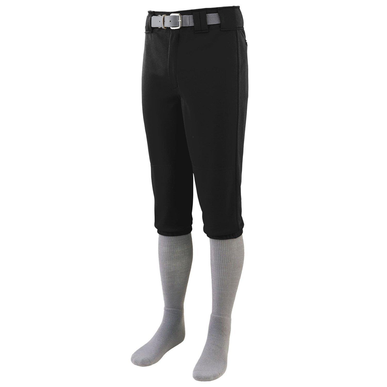 Augusta Sportswear Boys 'シリーズ膝長野球パンツ B015JNSN92 Large|ブラック ブラック Large