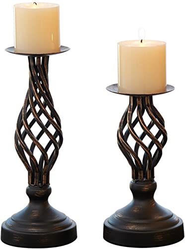 Hollow Candle Holder Set of 2