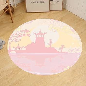 Amazon.com: Gzhihine Custom round floor mat Pink Decor Old Ancient ...