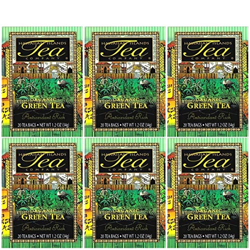 Certified Organic Green Tea, All Natural, 20 Teabags, Blended and Packed in Hawaii The unit count is: 20 The count type…