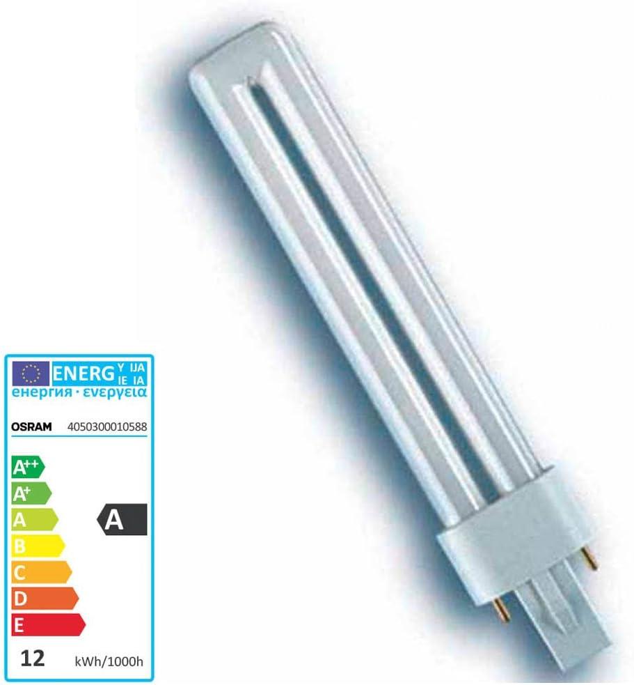 10/x OSRAM DULUX S l/ámpara fluorescente compacta G23/de pines 2 G23 9.00 wattsW
