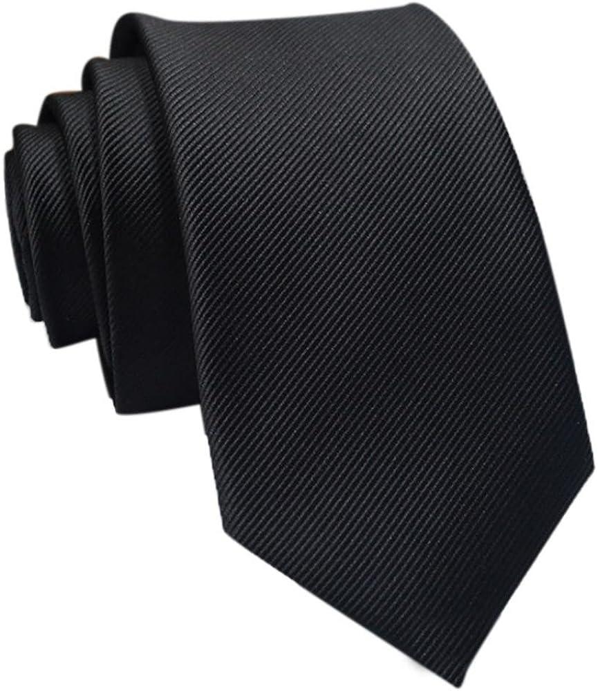 Casual Slim Hombres Lisos SóLido Flaco Cuello Fiesta Boda Corbata ...