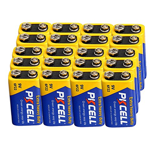 6f22 Super Heavy Duty Batteries - 9V 6F22 Mn1604 Batteries Super Heavy Duty Carbon-Zinc Battery Count Pcs (20)