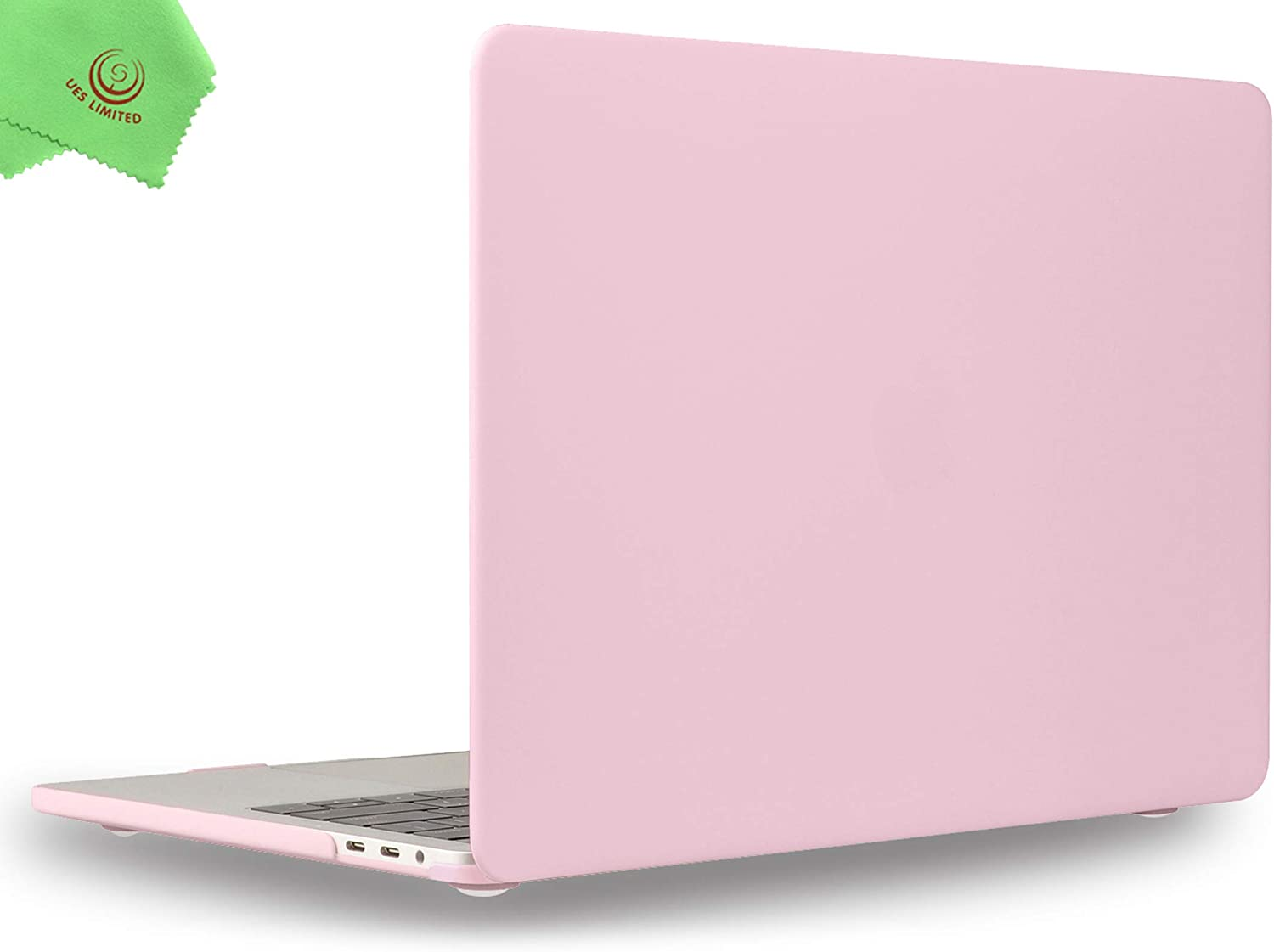 UESWILL MacBook Pro 15 inch Case 2019 2018 2017 2016 Release Model A1990 A1707, Smooth Matte Hard Case for MacBook Pro 15 inch with Touch Bar & USB-C, Rose Quartz