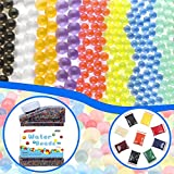 Water Beads Rainbow Mix 110,000 Growing Balls, Lelix Water Gel Beads for Orbeez Spa Refill, Kids Sensory Toys, Vases, Plant, Wedding and Home Decor