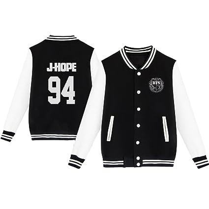 35d4420b2 Amazon.com   Dolpind Kpop BTS Varsity Baseball Jacket Monster JIN ...
