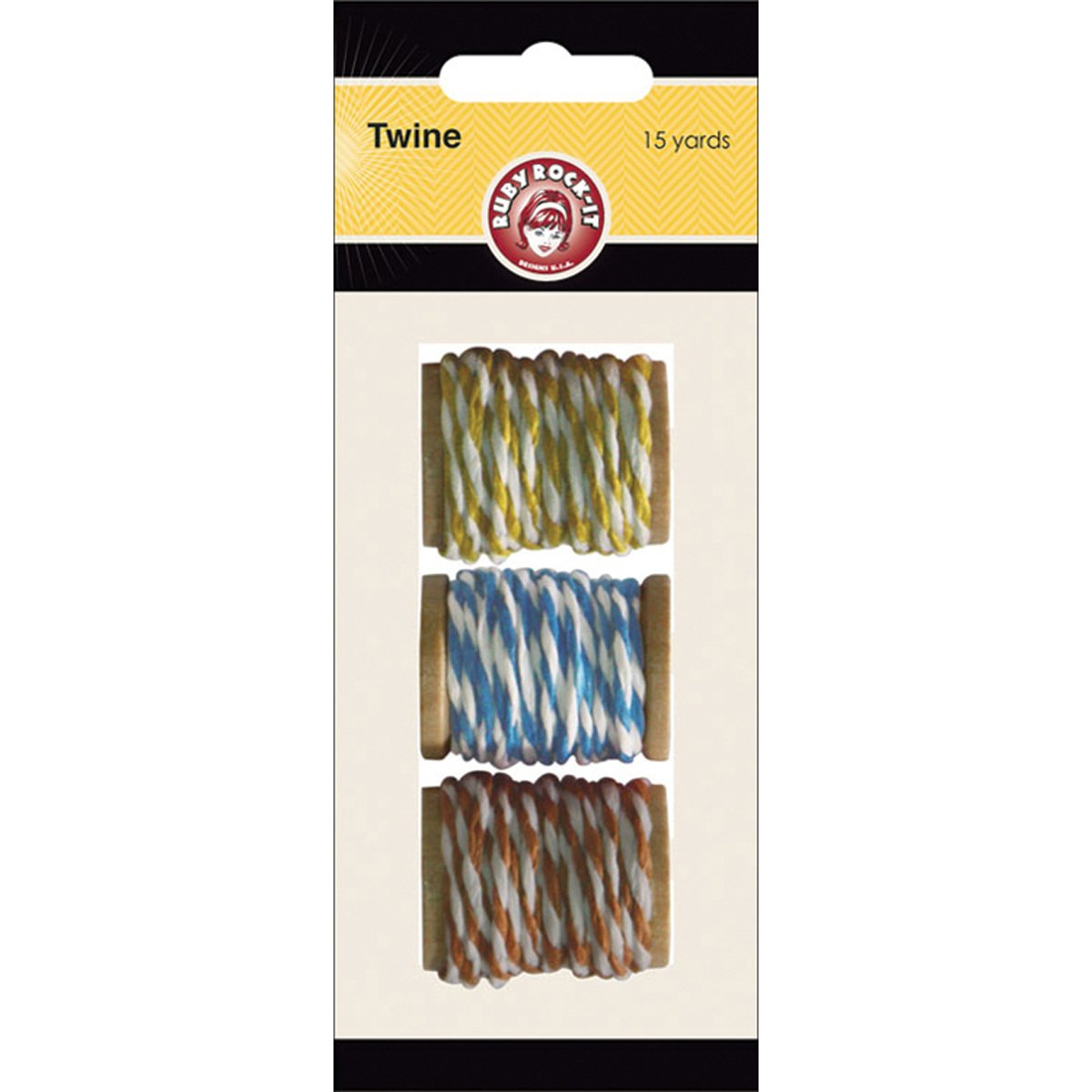 Ruby Rock-It Nostalgia Paper Twine 12yds 3 Colors