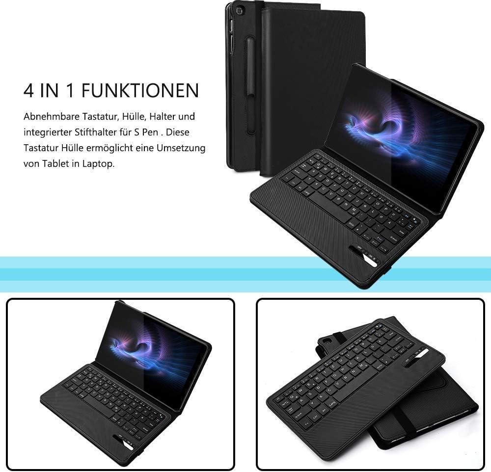 Jelly Comb Funda de teclado para Samsung Tab A 10,1 Zoll [10.1 pulgadas] [negro]