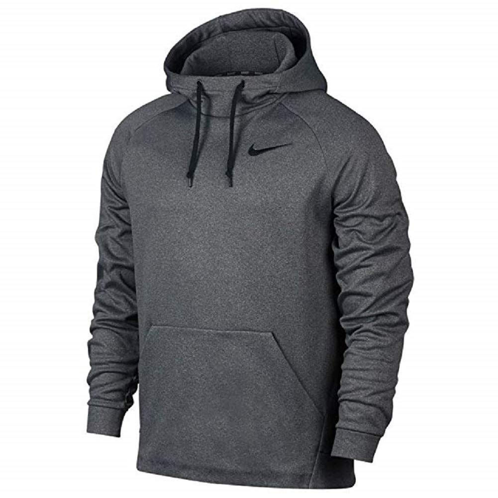 Nike Men's Therma Training Hoodie Carbon Heather/Black Size X-Large by Nike