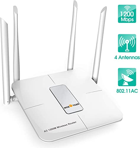 Wifi Router AC 5GHz Wireless Router for Home Office Internet Gaming Compatible with Alexa
