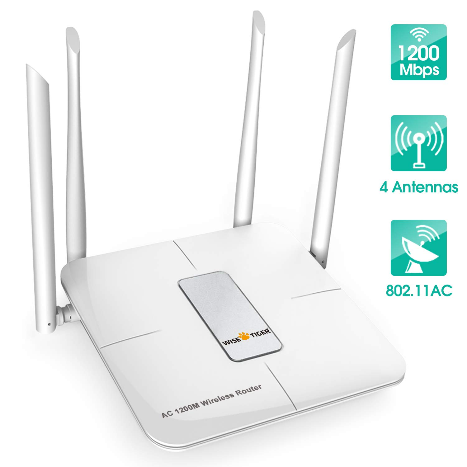 Wifi Router  AC 5GHz Wireless Router for Home Office Internet Gaming Compatible with Alexa by WISE TIGER