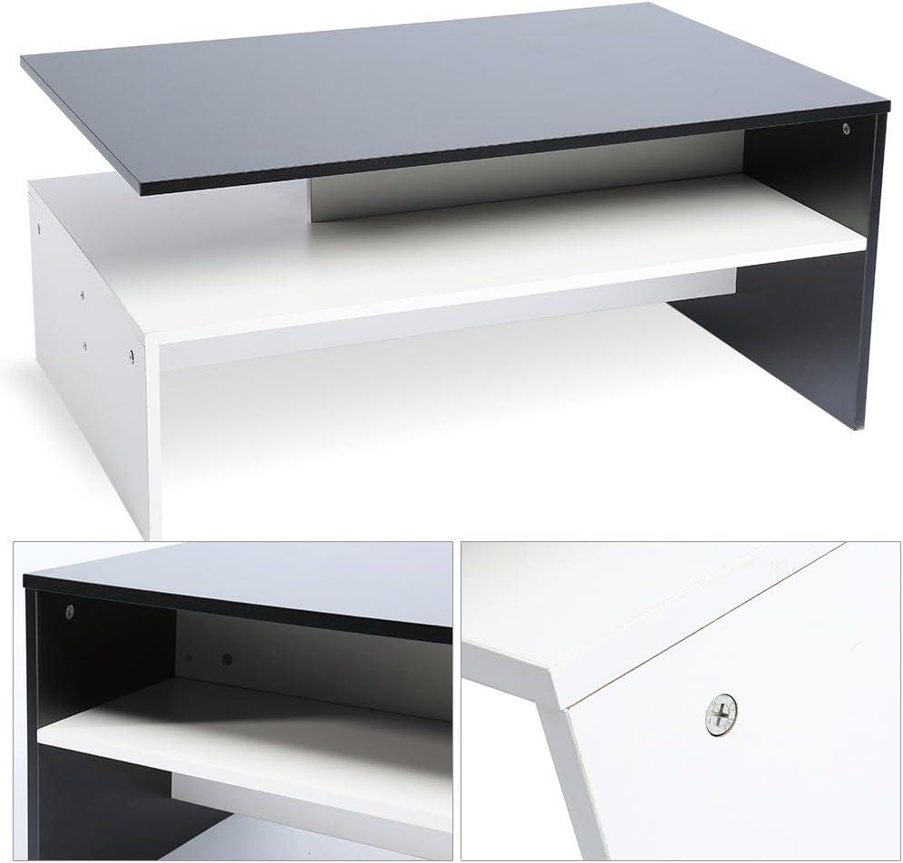 L x P x H: 90.5/x 60.5/x 42/cm Ufficio Salotto Moderno in Legno Divano t/è Divano tavolino Laterale con vano portaoggetti GOTOTOP Moderno Semplice tavolino da Salotto