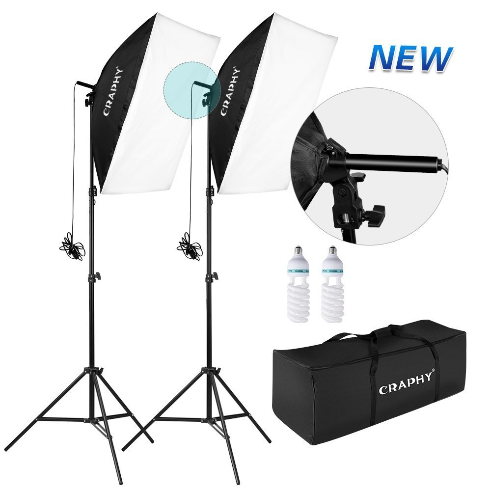 Amazon soft boxes electronics craphy upgraded 20x28 photo studio softbox lights auto pop up continuous lighting kit for fandeluxe Image collections