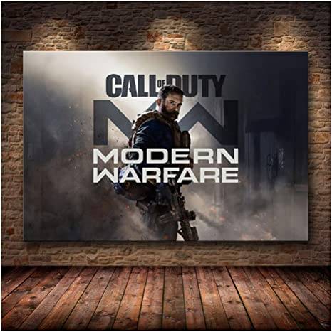Amazon Com Suuyar 5stars Call Of Duty Modern Warfare Wall Art Canvas Poster And Print Canvas Painting Decorative Picture For Bedroom Home Decor 60x90cm No Frame Posters Prints