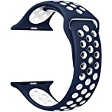 For Apple Watch Nike Band Sports Soft Silicone Replacement Band For Apple Watch Series 3,Series 2,Series 1,Nike +,Sport,Edition,M/S Size