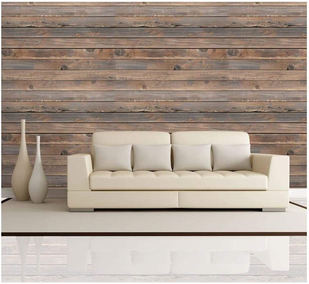 Wall26 Horizontal Brown Vintage And Retro Wood Textured Paneling Wall Mural Removable Wallpaper Home Decor 100x144 Inches Amazon Com
