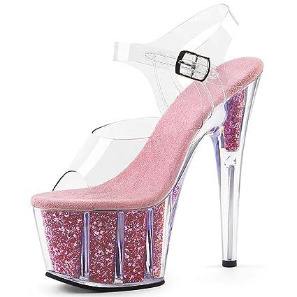 d7ca5cb538510 Amazon.com: GHFJDO Women's Pleaser Heels,Ankle Strap Platform Heels ...
