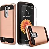 LG K7 Case, 2-Piece Style Hybrid Shockproof Hard Case Cover + Circle(TM) Stylus Touch Screen Pen And Screen Protector
