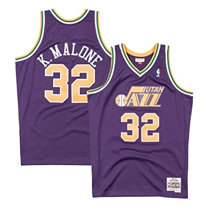 8e7bec0f Image Unavailable. Image not available for. Color: Mitchell & Ness Karl  Malone Utah Jazz 1991-92 Road Purple Swingman Jersey