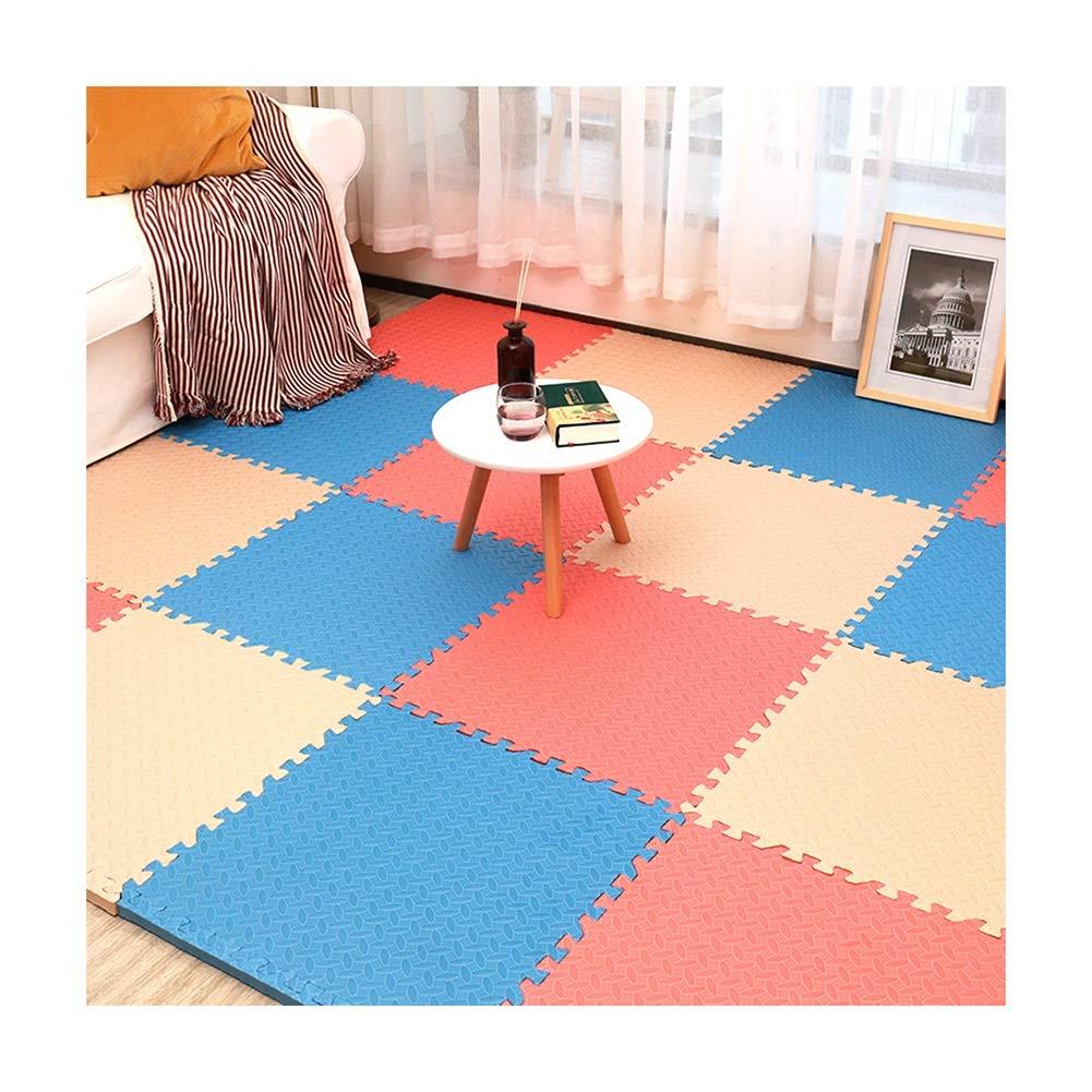 I 15pcs GUORRUI-Puzzlematten Schlafzimmer Spleißen Puzzle Quadratische Form Kind Krabbeldecke Schlafsaal Nahtlose Lücke Gute Zähigkeit, Mehrfache Farbe, Freie Kombination (Farbe   I, Größe   15pcs)