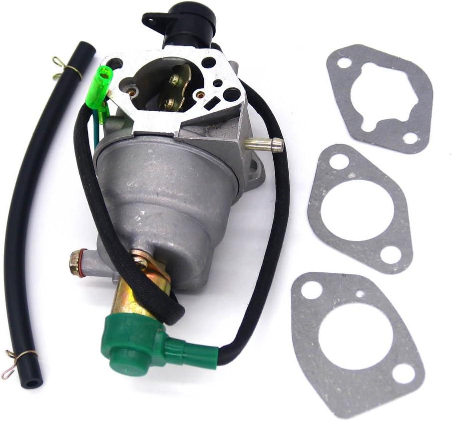 NIMTEK Carburetor Fits Honda GX390 5KW 13HP Chinese 188F Generator with Solenoid and Gaskets
