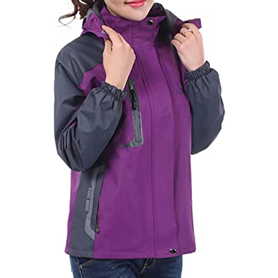 96d55a57d0825 HGH Waterproof Wearproof Raincoat Ventilate Sport Outdoor Hooded Softshell  Climbing Ployester for Womens Ladies Clothing Female