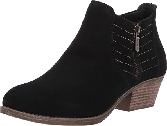 Skechers Women's Lasso-Petrol-Western Influenced Stitched Side Zip Bootie Ankle Boot