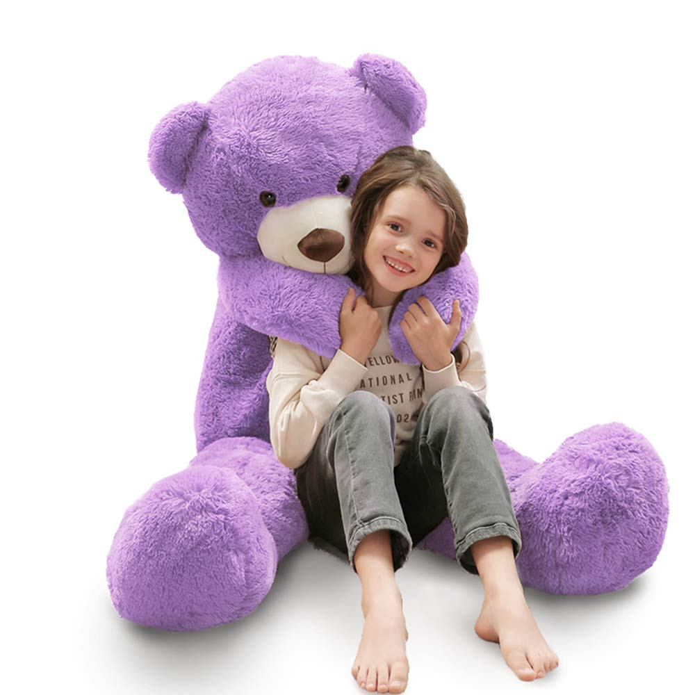MaoGoLan 55 Inch Giant Teddy Bears Big Cute Plush Teddy Bear Huge Life Size Teddy Bear Large Stuffed Animal Toys for Girlfriend Children Purple by MaoGoLan