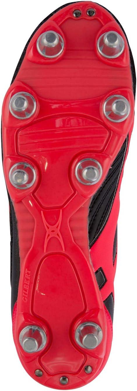 Crampons de Rugby Rouge Gilbert Sidestep V1 8 Stud SG