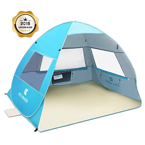 SGODDE Large Pop Up Beach Tent