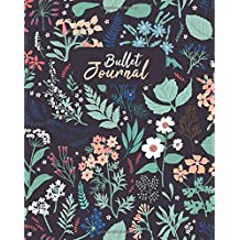 """Bullet Journal: Calming Wilderness: Dot Grid Paper, 8 x 10"""" Perfect Bound Softcover Dotted Notebook"""